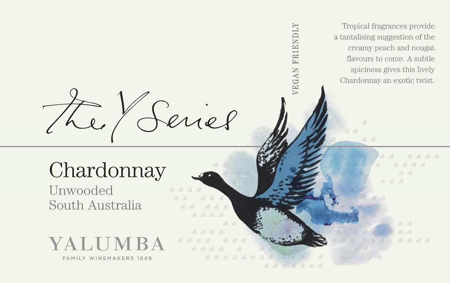 Yalumba Y Series Unwooded Chardonnay 2020  Front Label