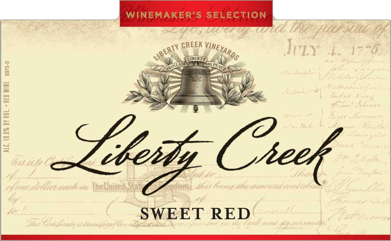 Liberty Creek Sweet Red Front Label