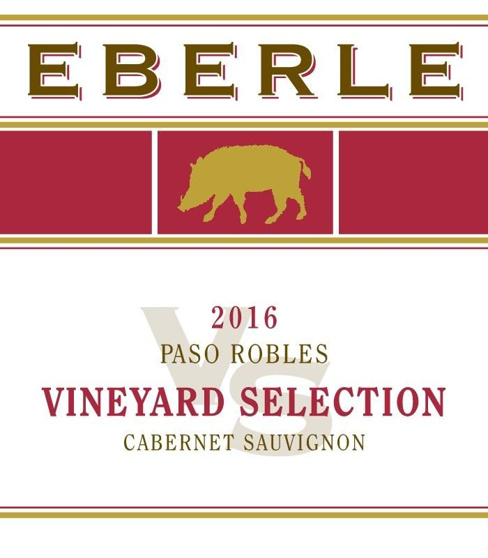 Eberle Vineyard Selection Cabernet Sauvignon 2016 Front Label