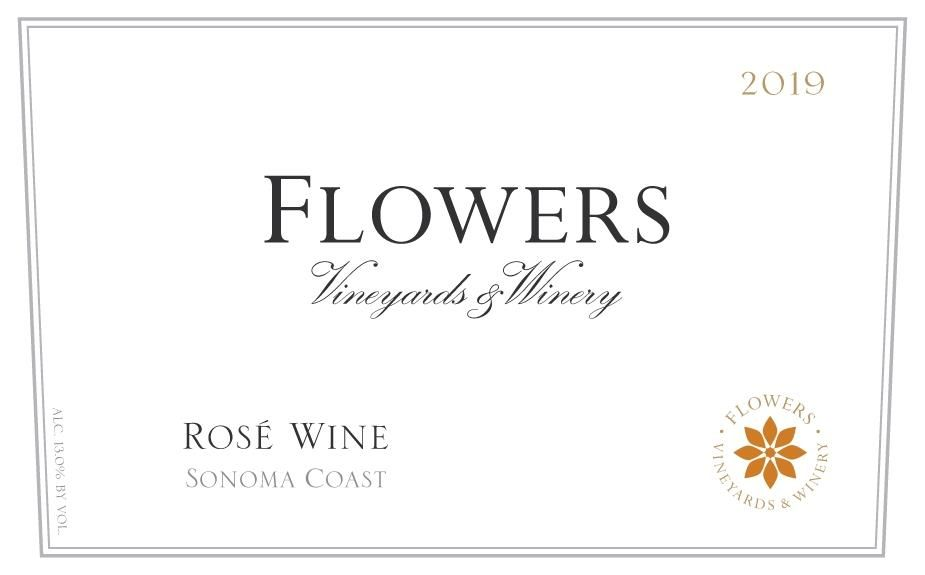 Flowers Sonoma Coast Rose 2019  Front Label