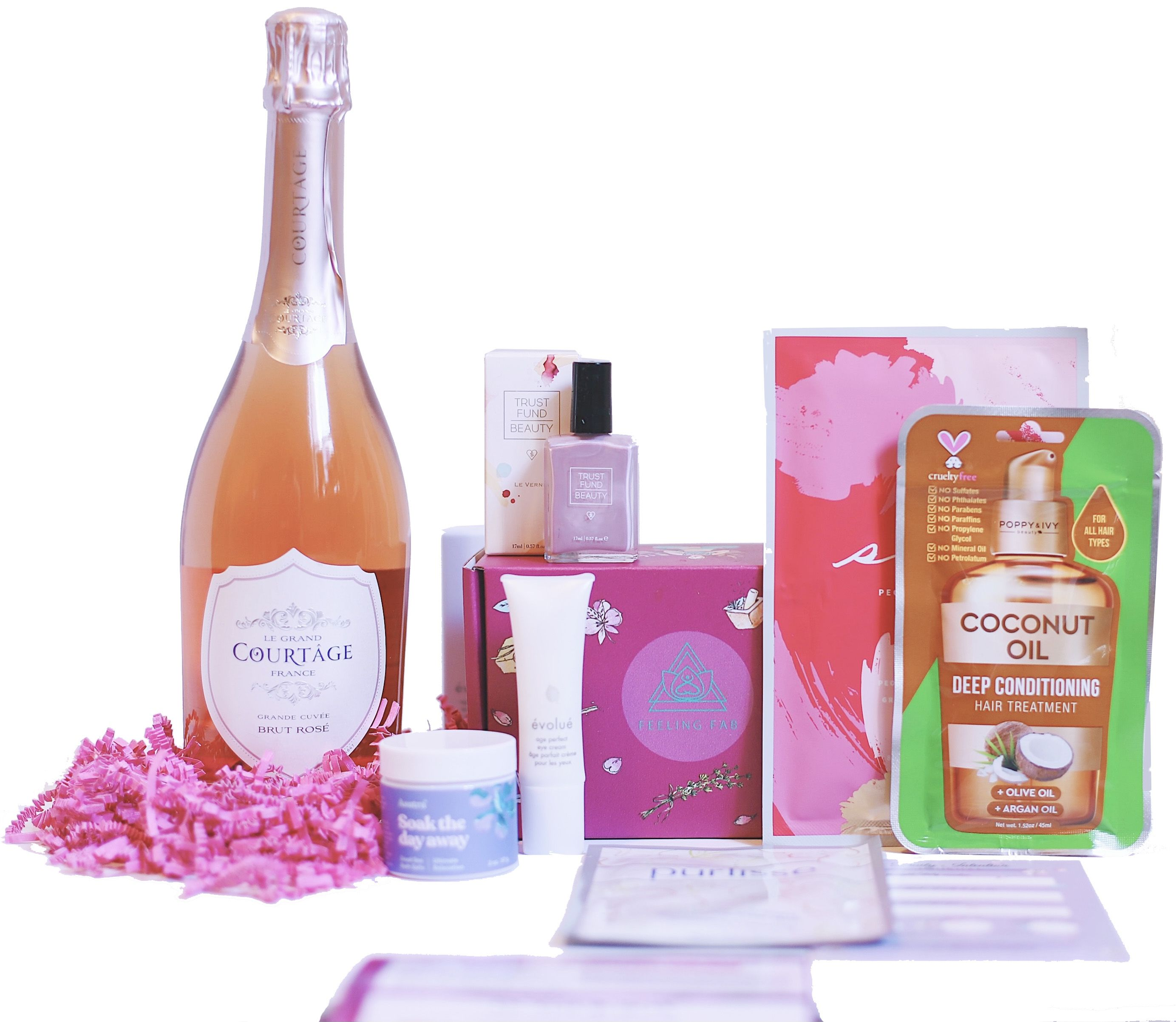 wine.com 90 Point Sparkling Wine & Spa Gift Set Gift Product Image