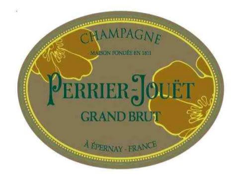 Perrier-Jouet Grand Brut (375ML half-bottle)  Front Label