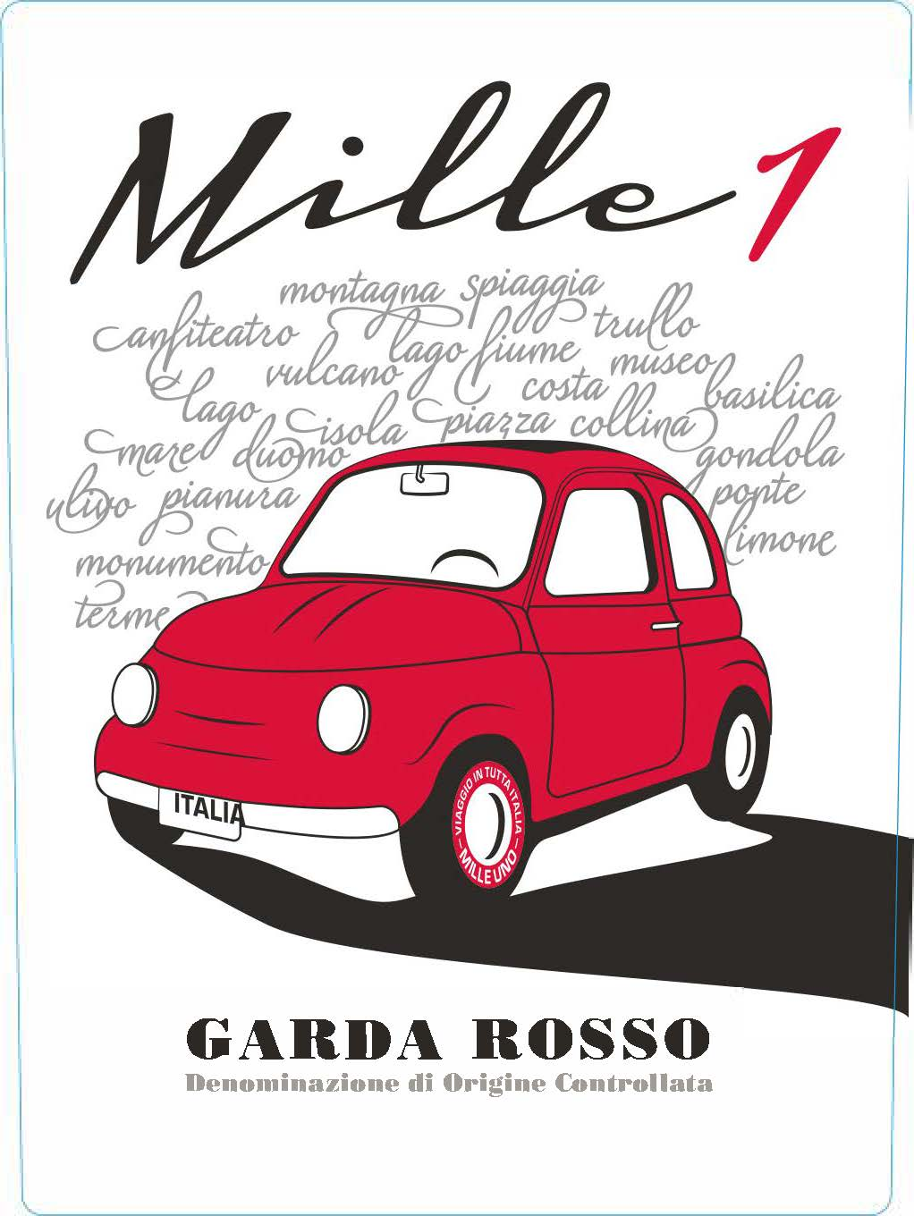 Mille1 Garda Rosso 2017  Front Label