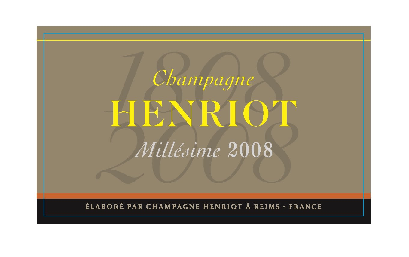 Henriot Brut Millesime 2008  Front Label