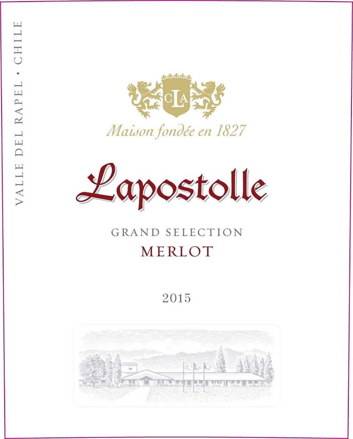 Lapostolle Grand Selection Merlot 2015 Front Label
