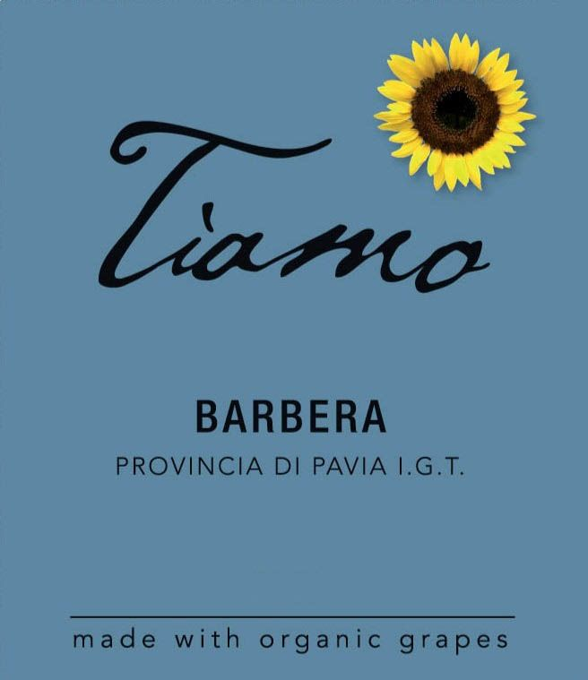 Tiamo Barbera 2017  Front Label