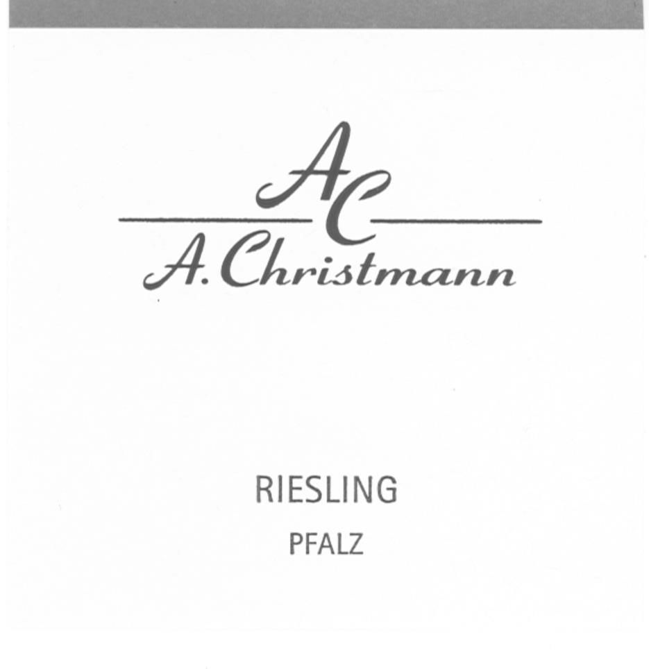 A. Christmann Riesling 2017 Front Label