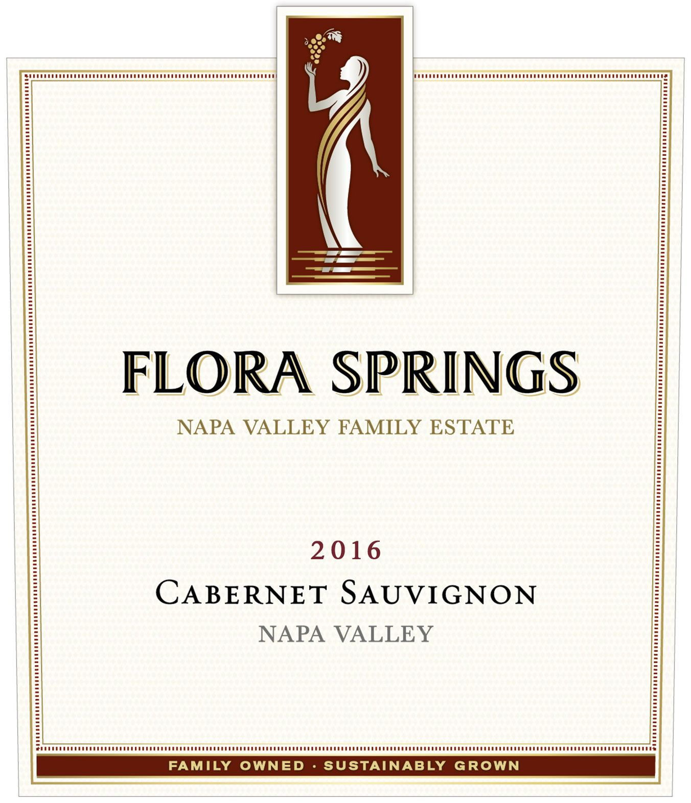 Flora Springs Napa Valley Cabernet Sauvignon 2016 Front Label