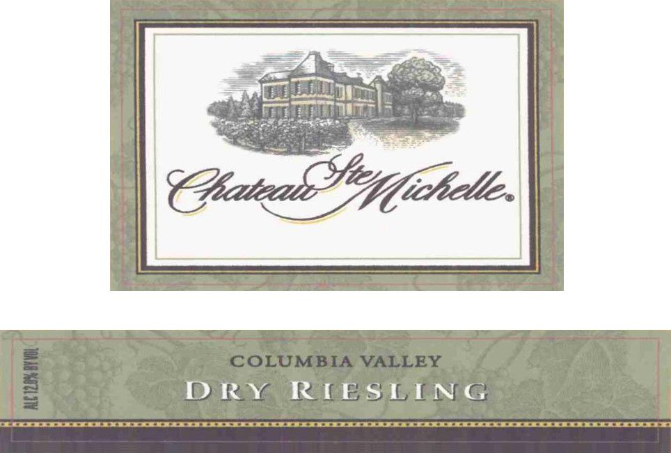 Chateau Ste. Michelle Dry Riesling 2006  Front Label