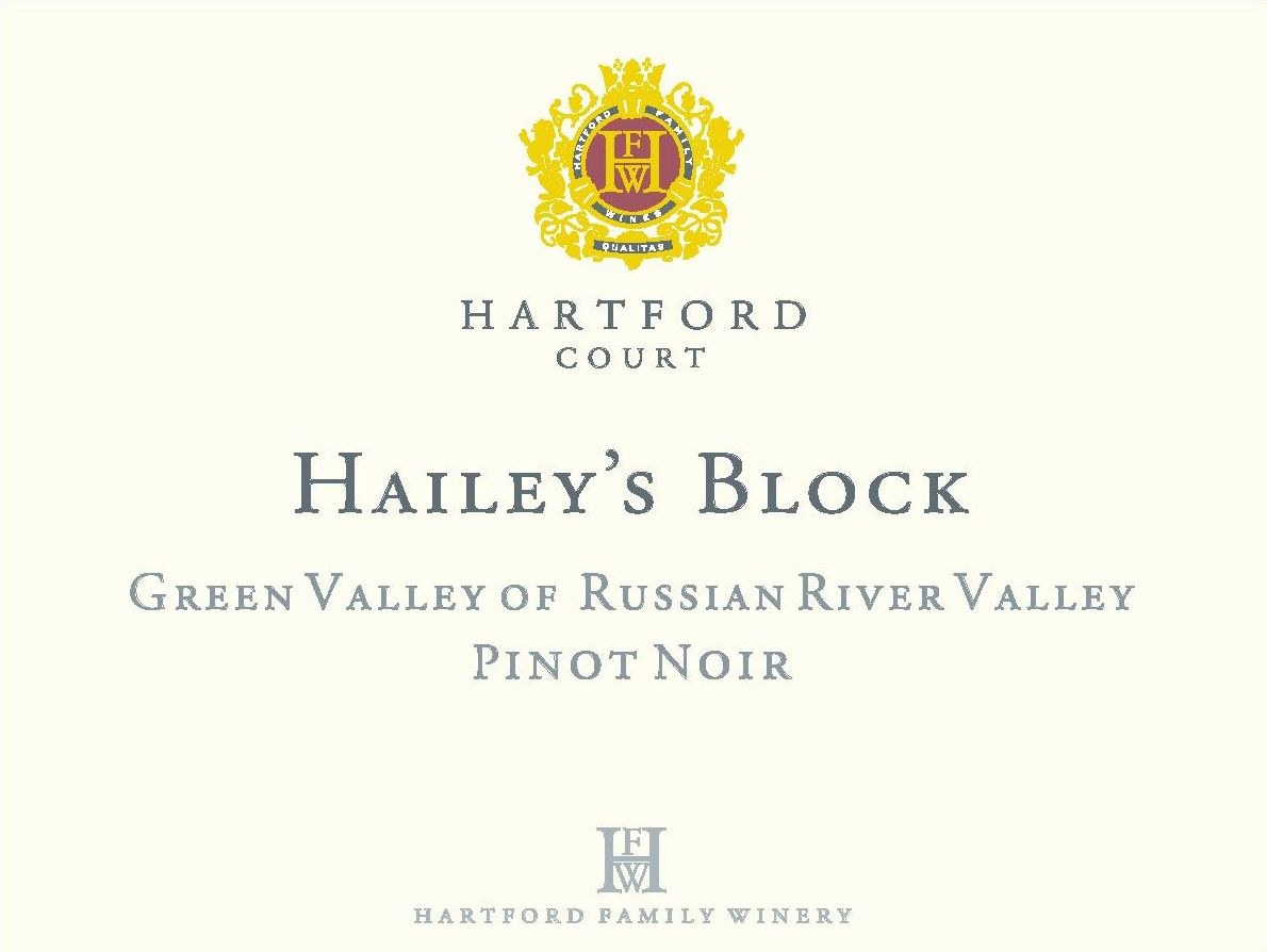 Hartford Court Hailey's Block Pinot Noir 2015 Front Label