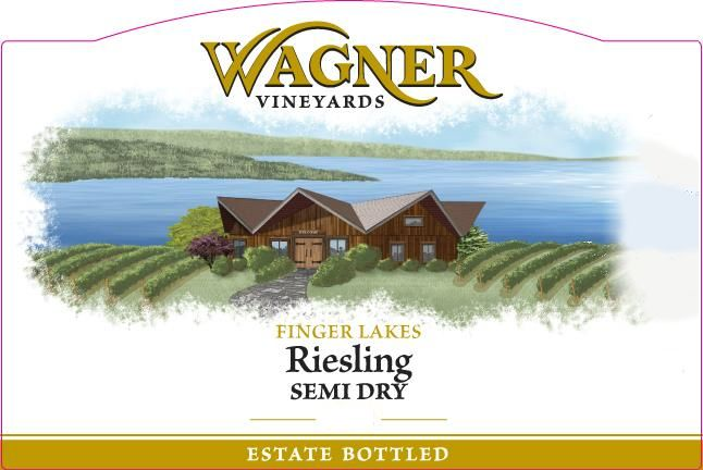 Wagner Vineyards Semi Dry Riesling 2017 Front Label