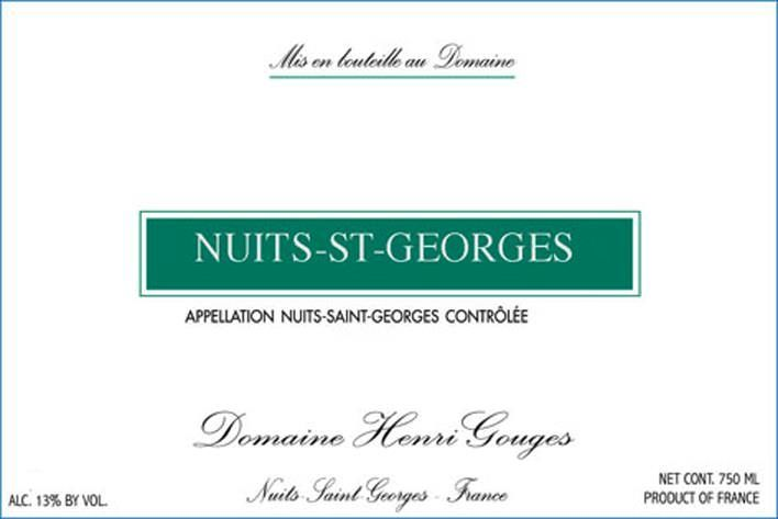 Domaine Henri Gouges Nuits-St-Georges (375ML half-bottle) 2017  Front Label