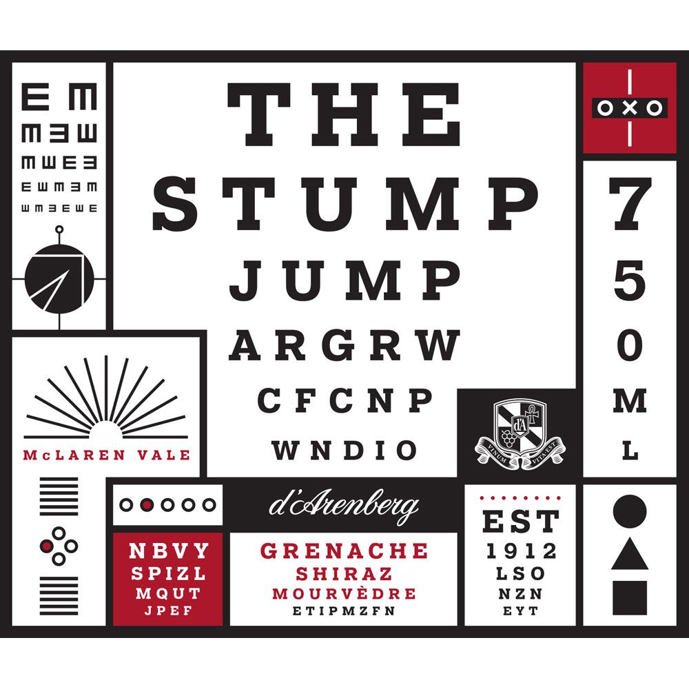 d'Arenberg The Stump Jump Red 2015  Front Label