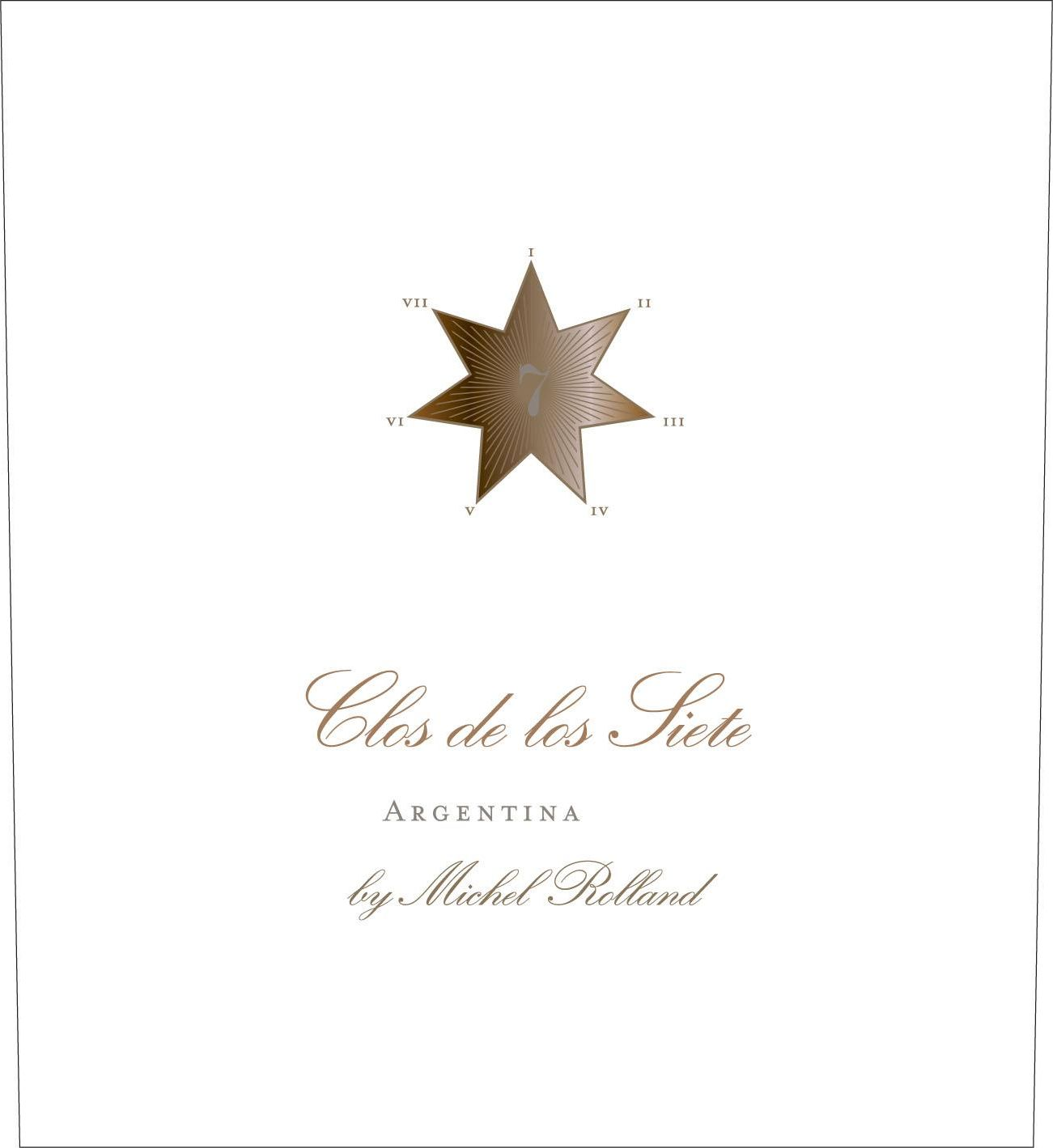 Clos de los Siete Red Blend 2017  Front Label