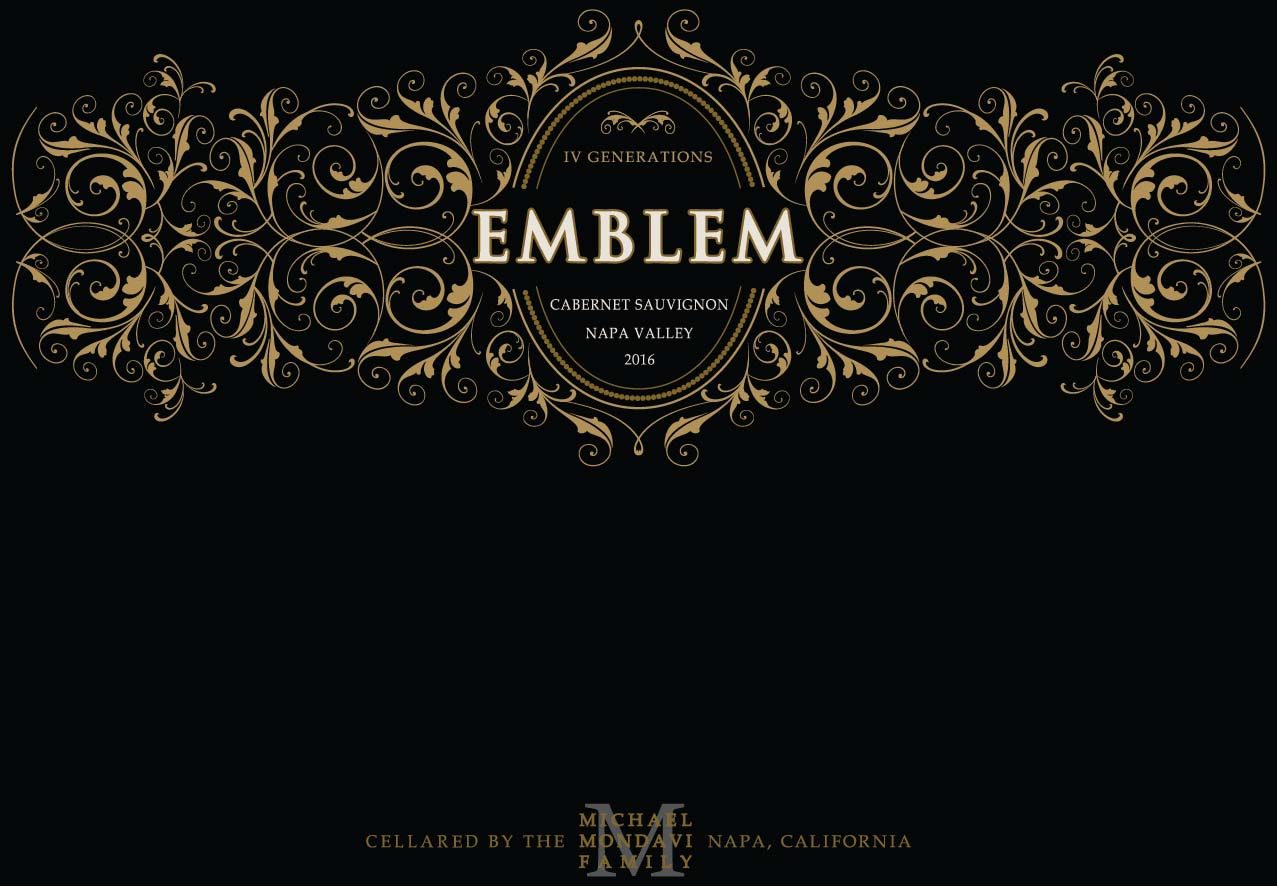 Emblem by Michael Mondavi Napa Valley Cabernet Sauvignon 2016  Front Label