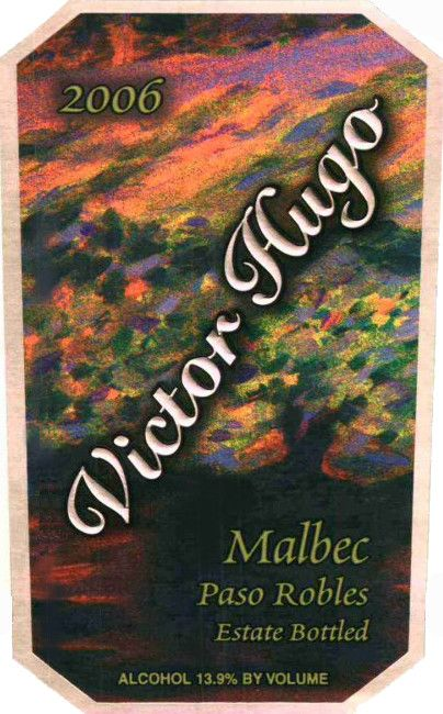 Victor Hugo Winery Malbec 2006 Front Label