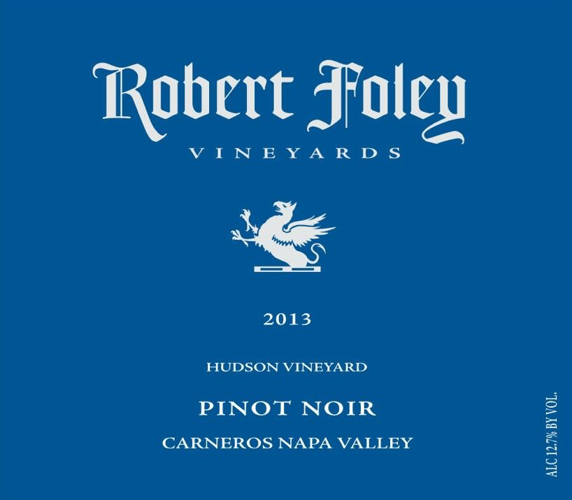 Robert Foley Vineyards Pinot Noir 2013  Front Label