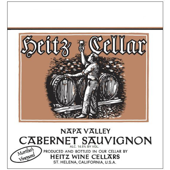 Heitz Cellar Martha's Vineyard Cabernet Sauvignon 1998  Front Label