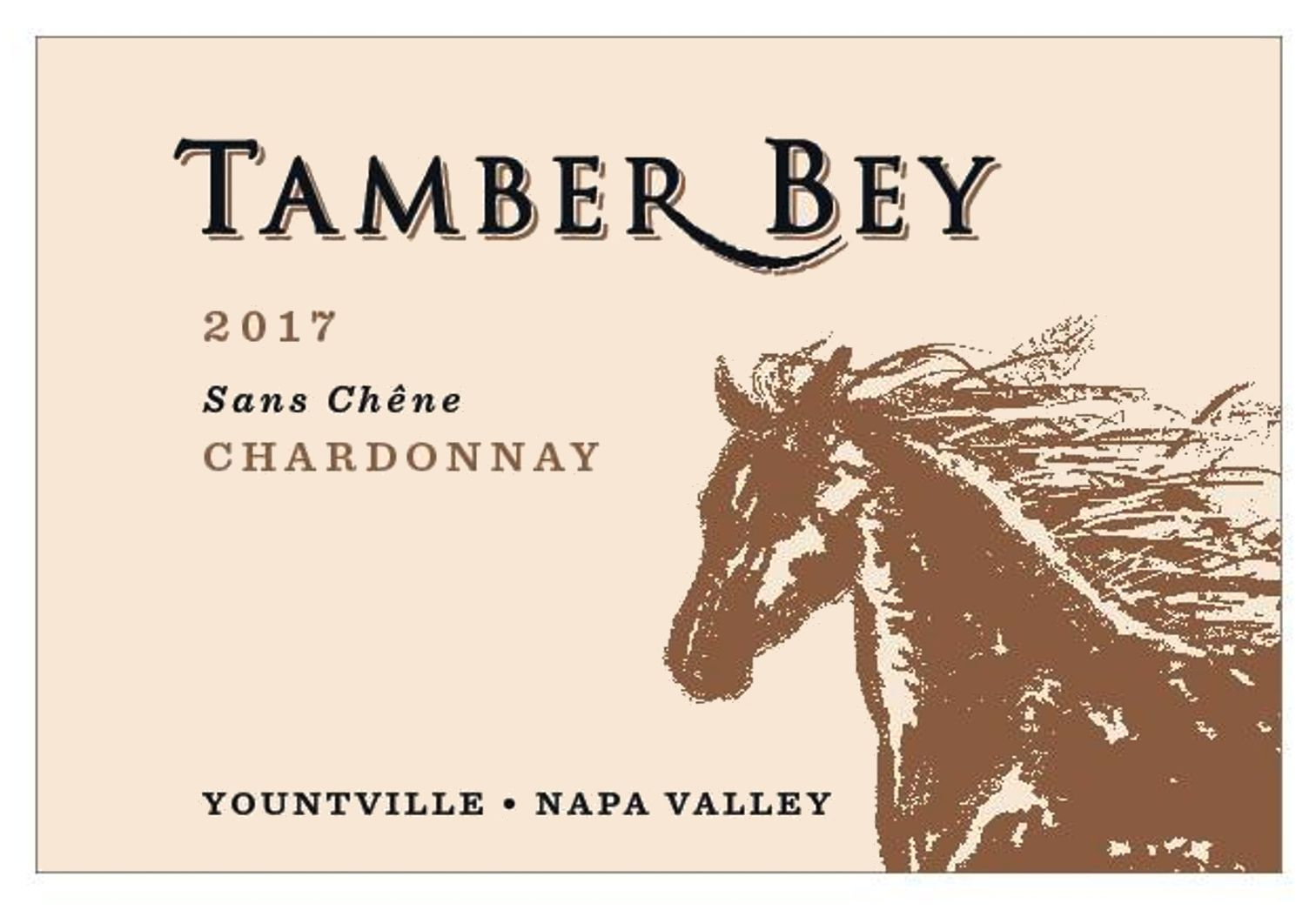 Tamber Bey Sans Chene Chardonnay 2017  Front Label
