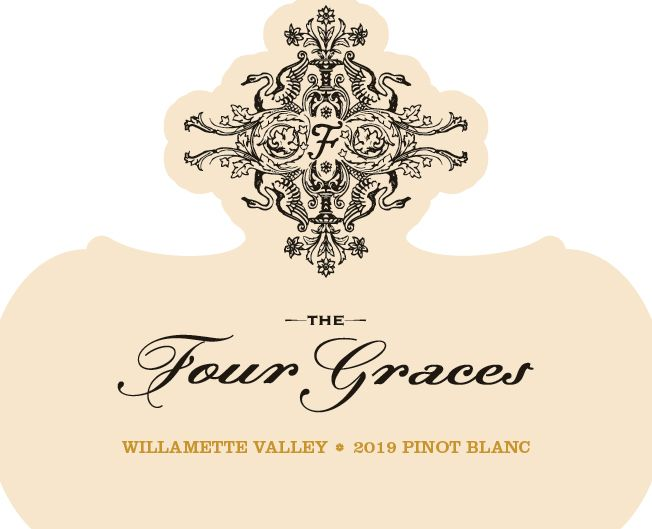 Four Graces Pinot Blanc 2019  Front Label