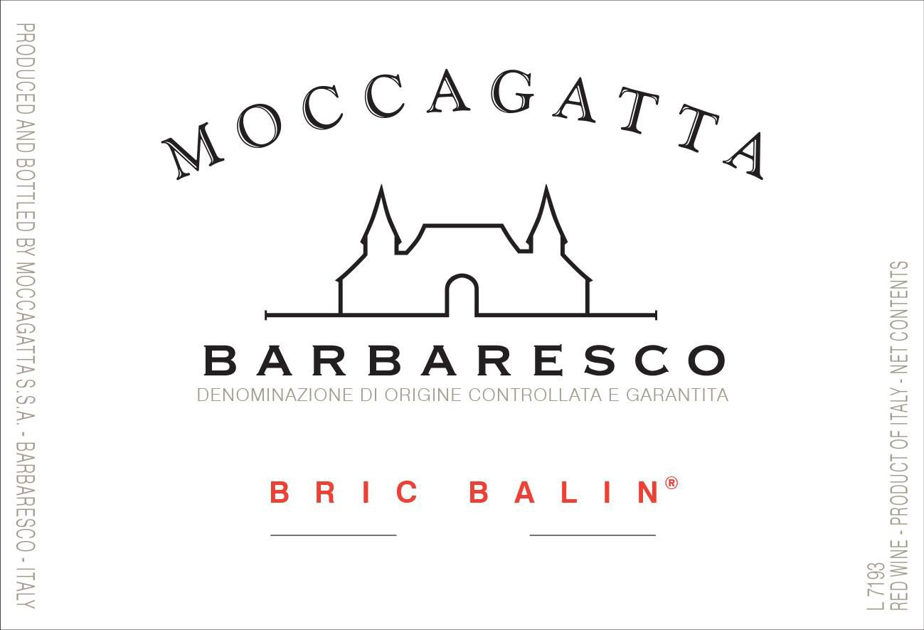 Moccagatta Barbaresco Bric Balin (375ML half-bottle) 2017  Front Label