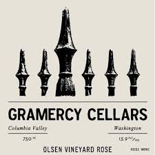 Gramercy Cellars Olsen Vineyard Rose 2017 Front Label