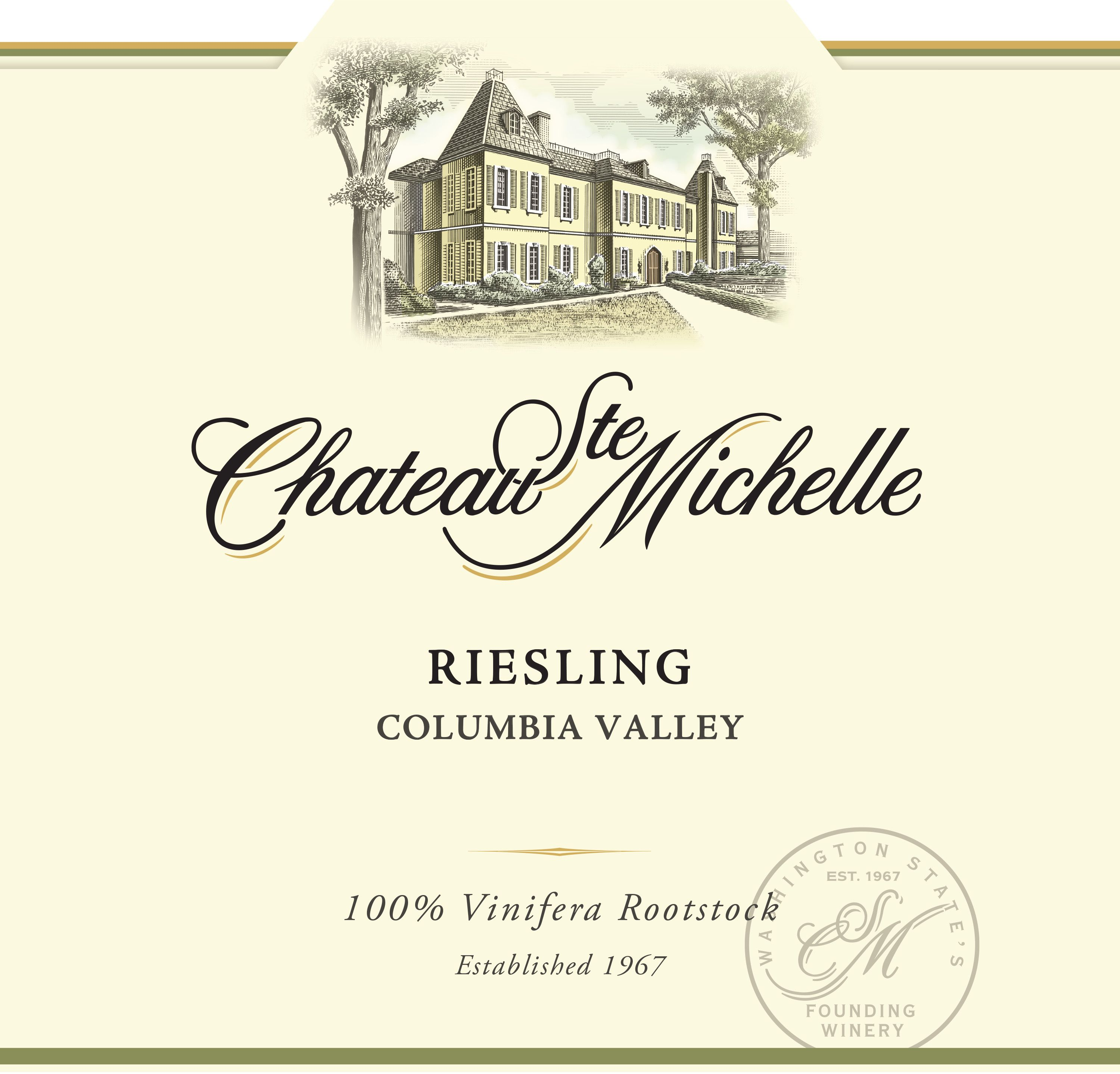 Chateau Ste. Michelle Riesling 2018  Front Label