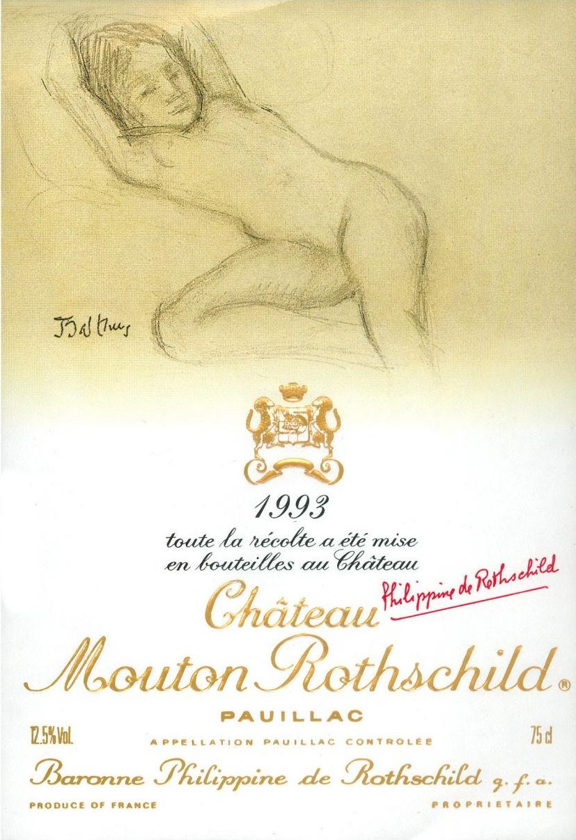 Chateau Mouton Rothschild  1993  Front Label