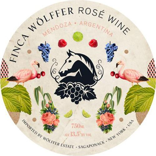 Wolffer Estate Finca Wolffer Rose 2020  Front Label