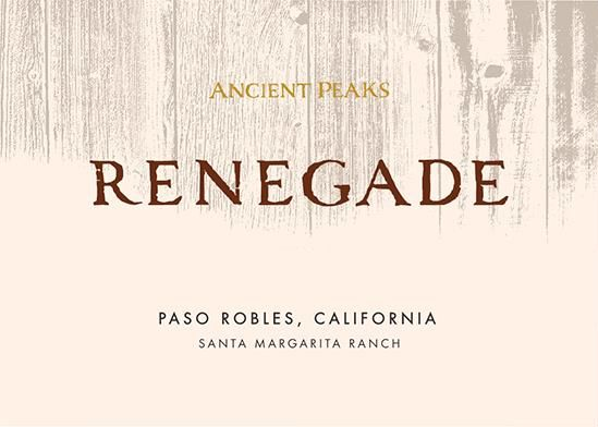 Ancient Peaks Paso Robles Renegade 2017 Front Label