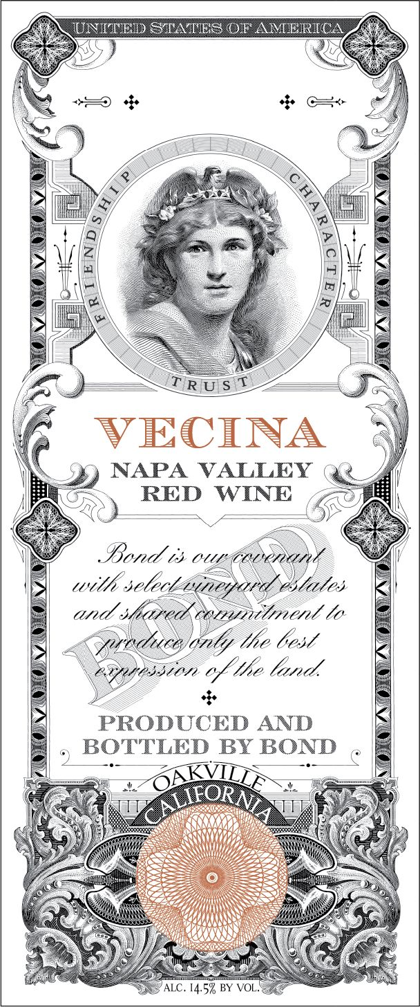 Bond Vecina 2016  Front Label