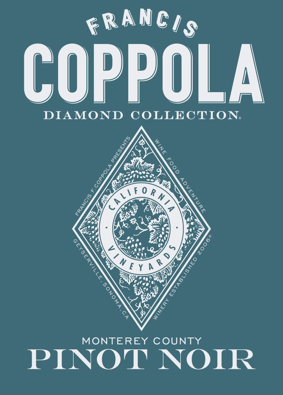Francis Ford Coppola Diamond Collection Monterey Pinot Noir 2018  Front Label