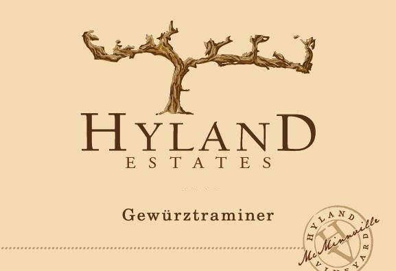 Hyland Estates Gewurztraminer 2017 Front Label