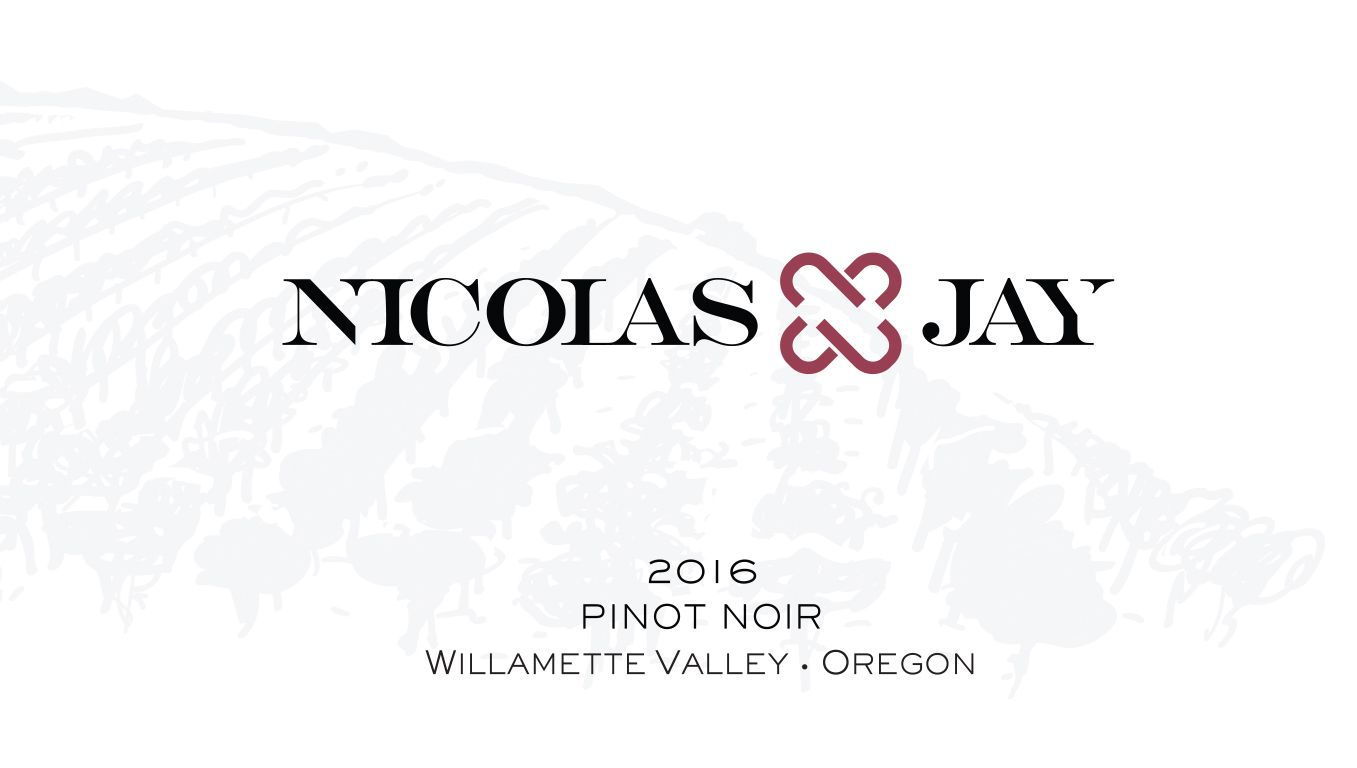 Nicolas-Jay Pinot Noir 2016  Front Label