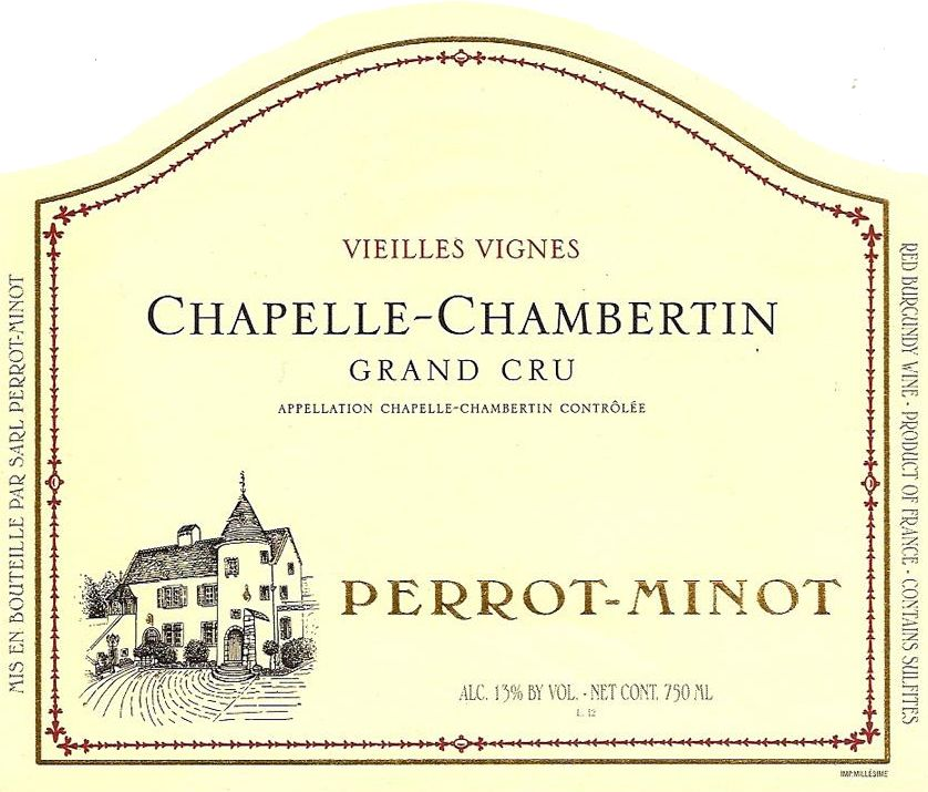 Domaine Perrot-Minot Chapelle-Chambertin Vieilles Vignes Grand Cru 2008  Front Label
