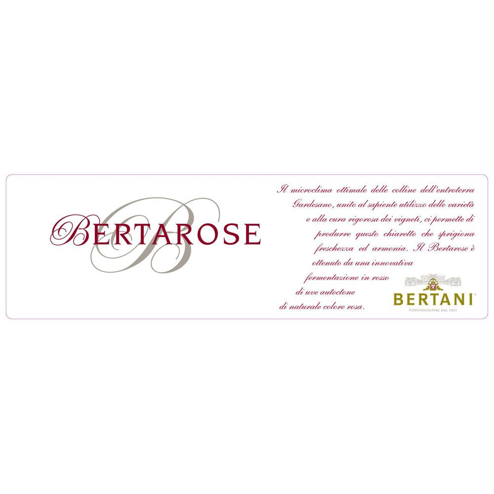 Bertani Bertarose 2019  Front Label