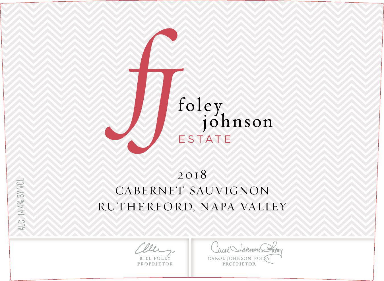Foley Johnson Estate Rutherford Cabernet Sauvignon 2018  Front Label