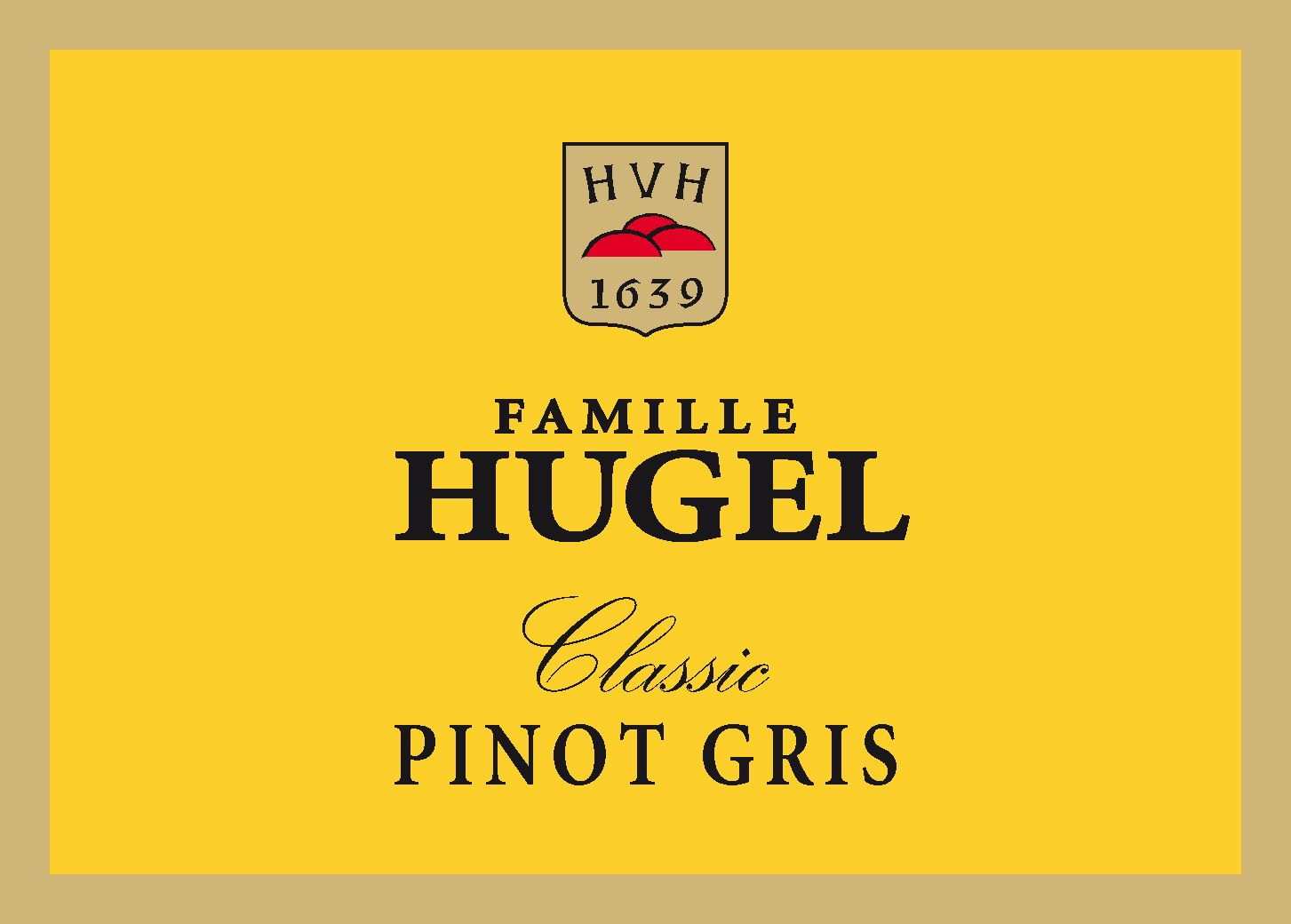 Hugel Classic Pinot Gris 2016  Front Label