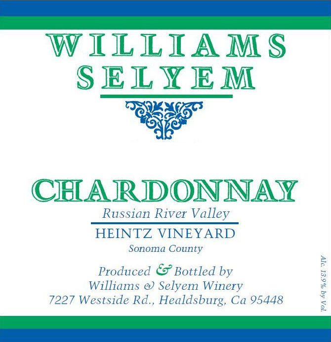 Williams Selyem Heintz Chardonnay 2017 Front Label