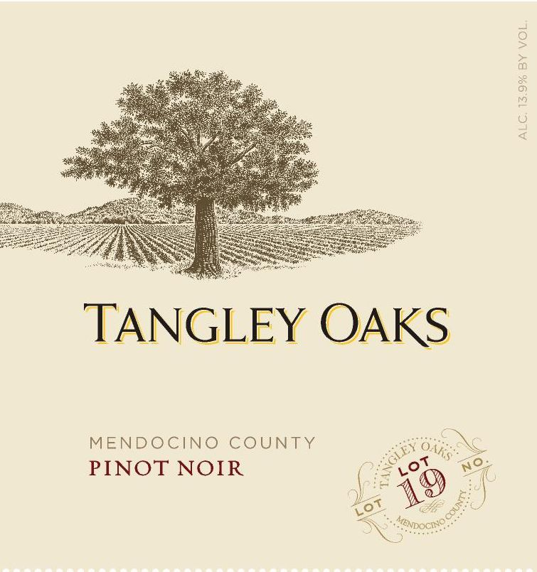 Tangley Oaks North Coast Pinot Noir 2015  Front Label