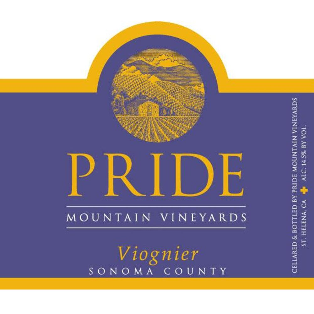Pride Mountain Vineyards Viognier (375ML half-bottle) 2017 Front Label