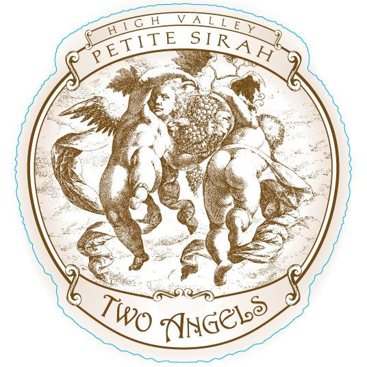 Two Angels Petite Sirah 2016  Front Label