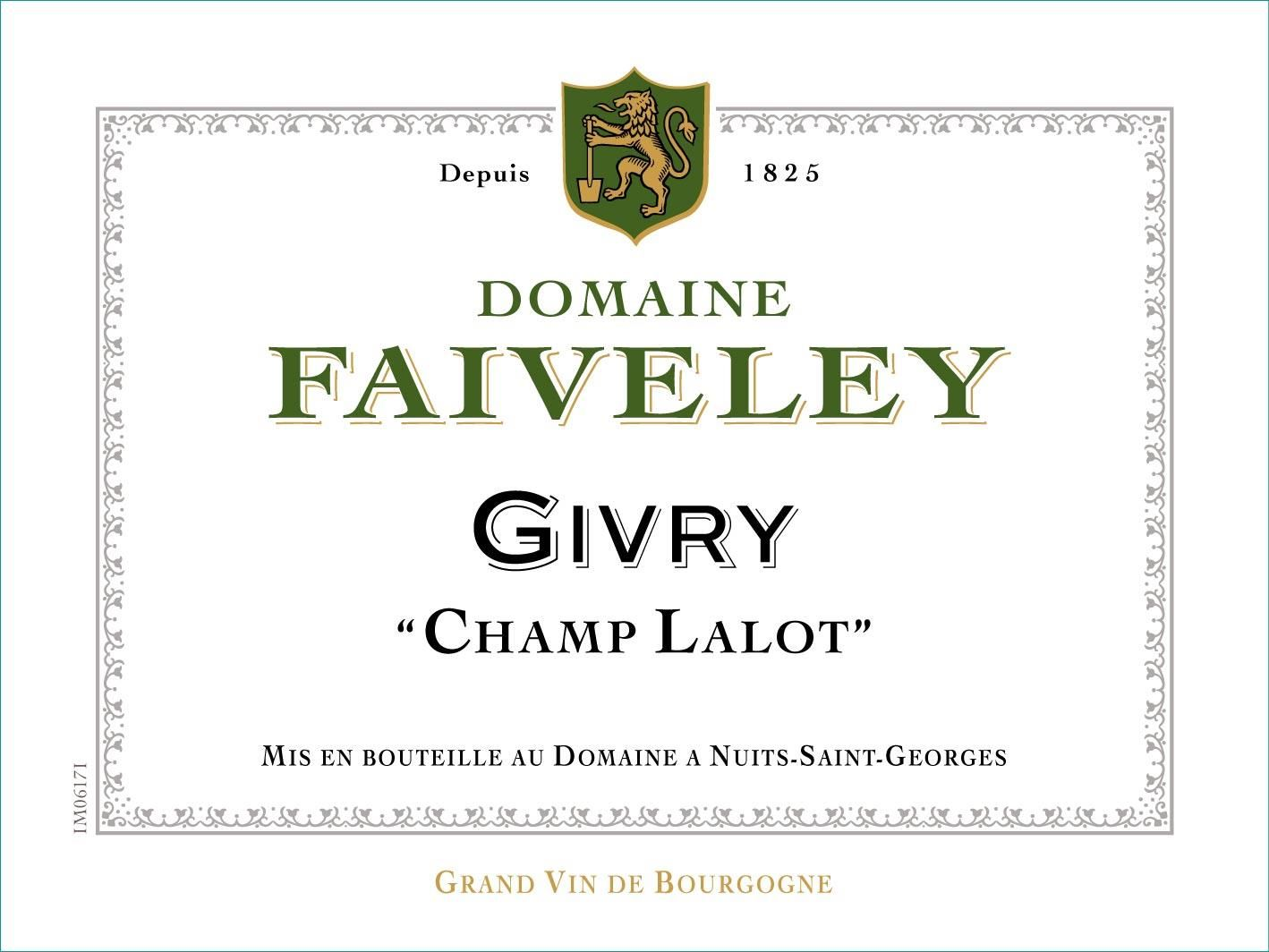 Domaine Faiveley Givry Champ-Lalot Blanc 2014  Front Label