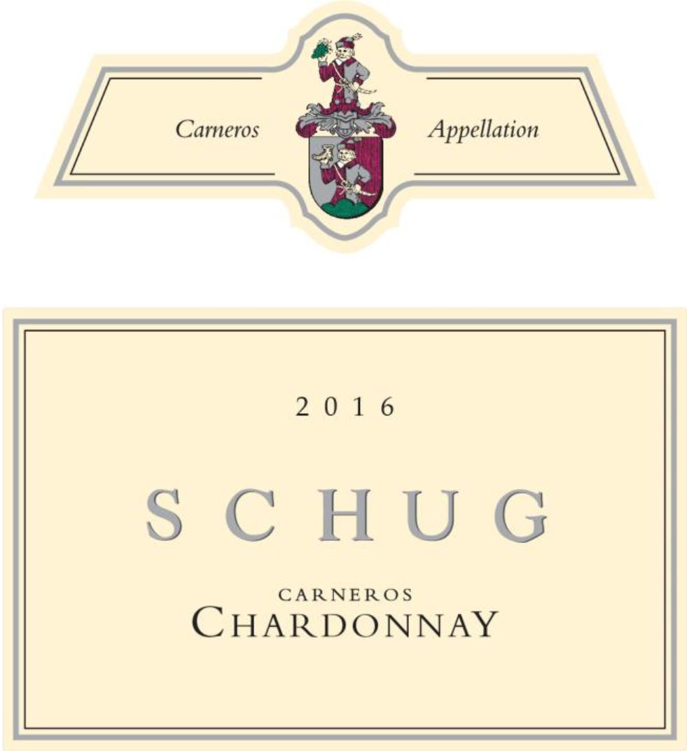 Schug Carneros Chardonnay (375ML half-bottle) 2016 Front Label