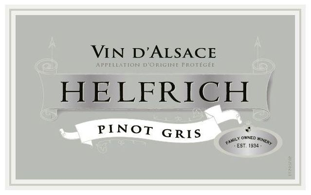 Helfrich Pinot Gris 2016 Front Label