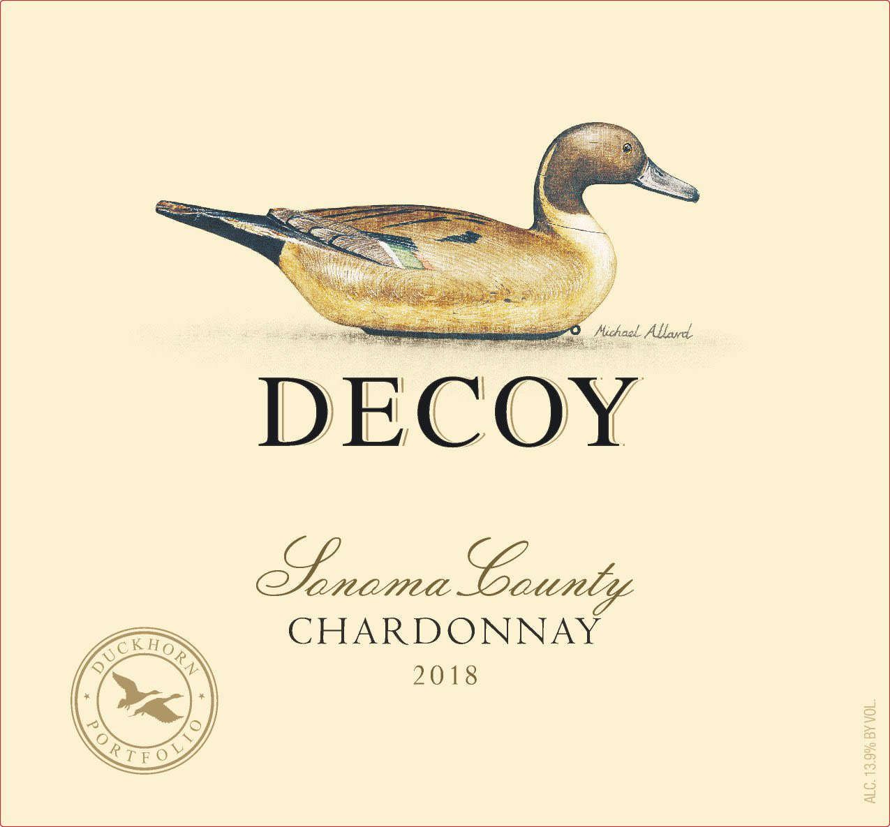 Decoy Sonoma Chardonnay 2018  Front Label