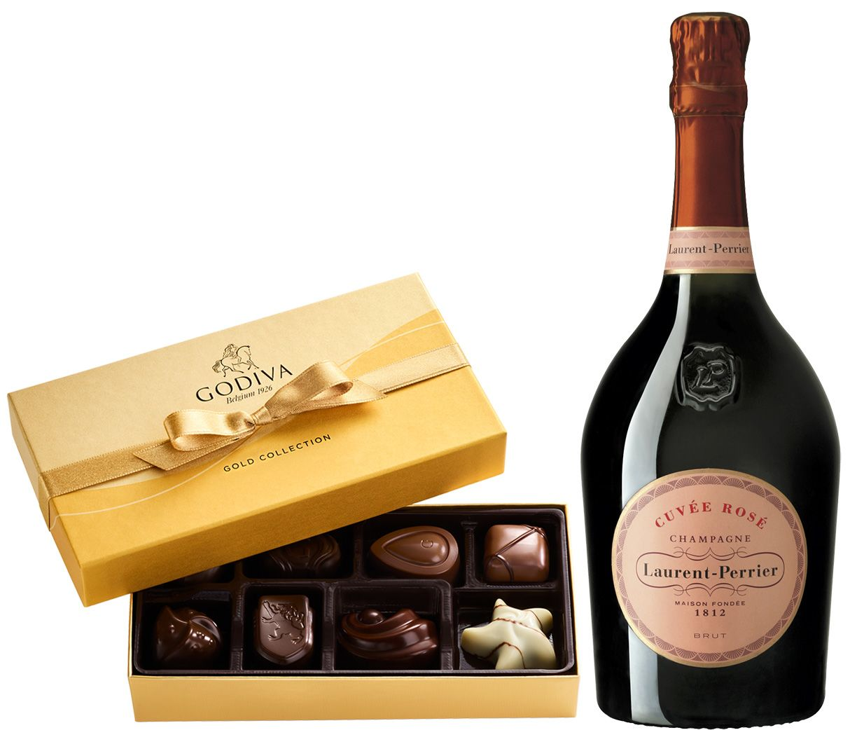 wine.com Laurent-Perrier Cuvee Rose & Godiva Gift Set  Gift Product Image