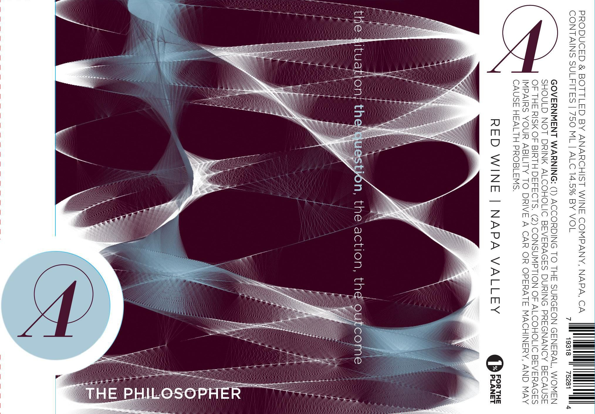 Anarchist Wine Co. The Philosopher 2014  Front Label