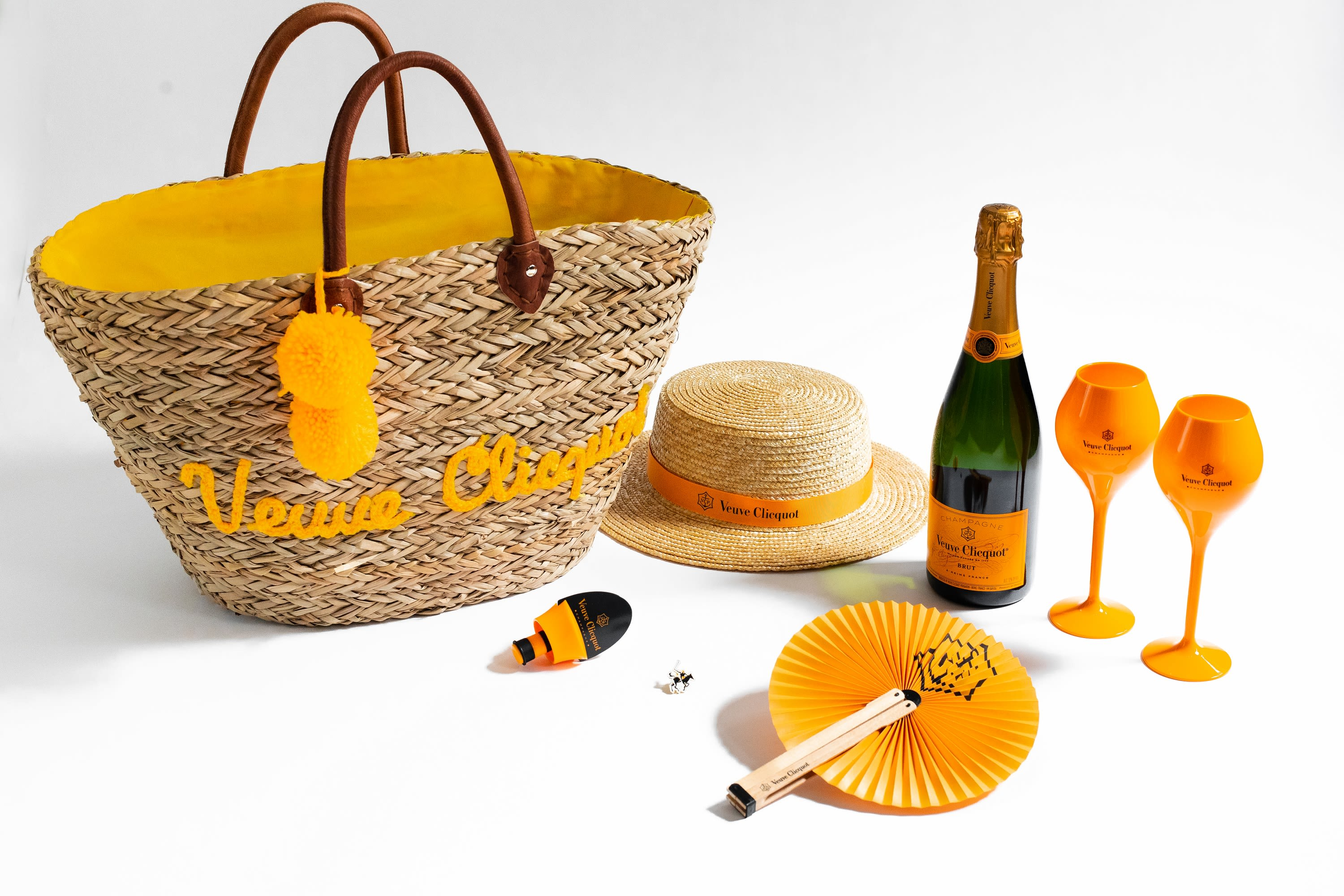 Veuve Clicquot Polo Classic Yellow Label Bottle with Picnic Essentials Set  Gift Product Image