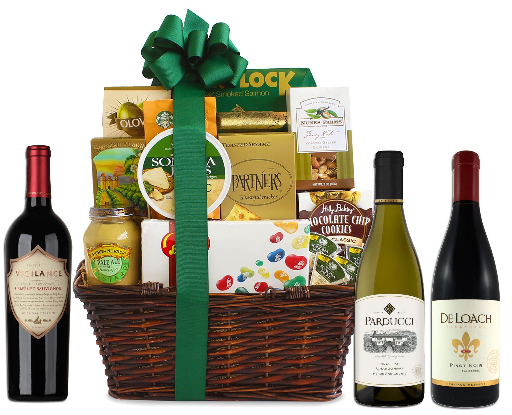 Supplemental gift image. California Wine Tour Gift Basket